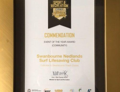 DSR Award – Commendation for Ocean Classic!