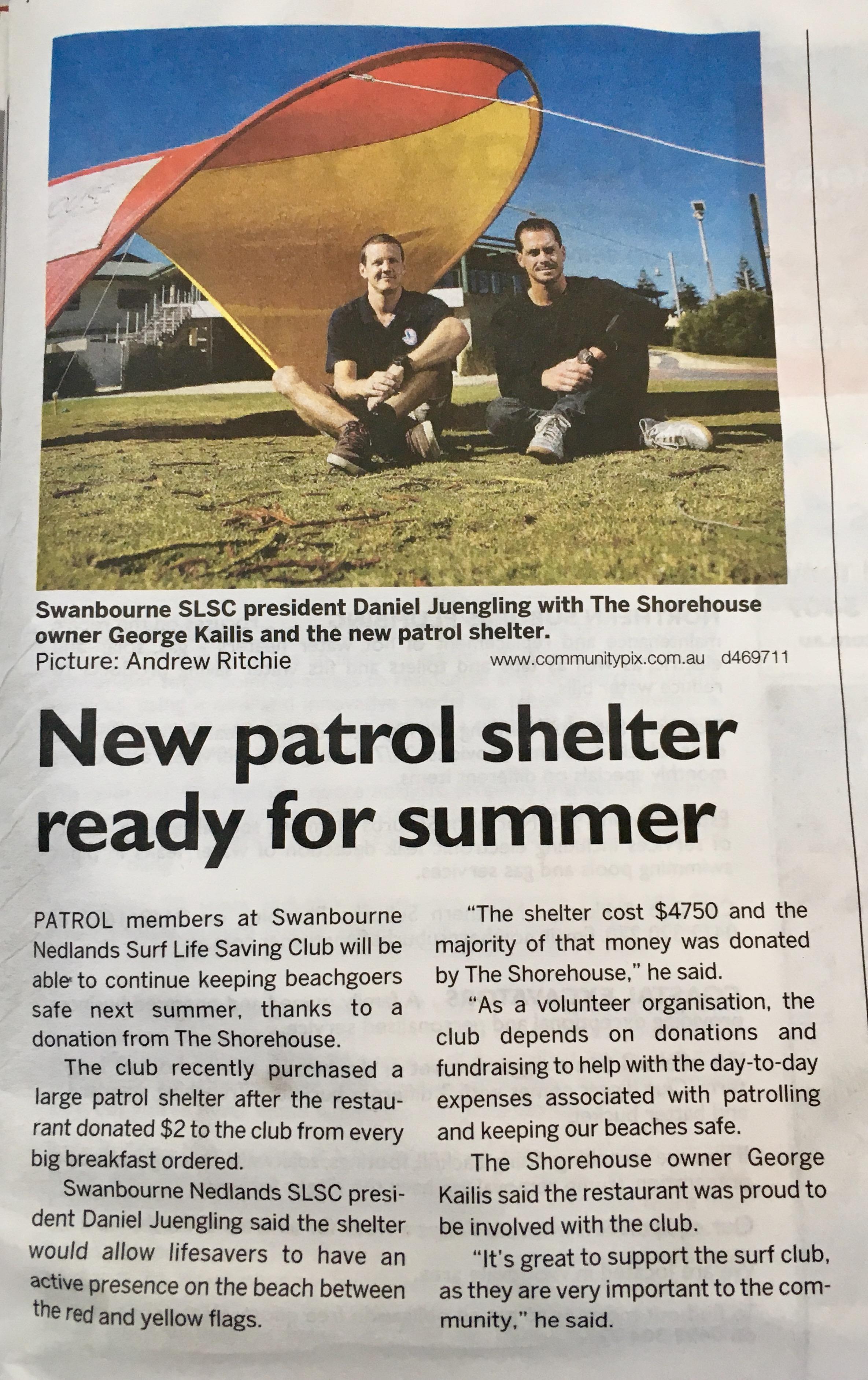 new patrol shelter